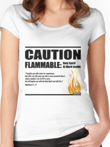 Caution Flammable Women's Fitted Scoop T-Shirt