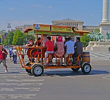 Beerbike, Budapest, Hungary by Margaret  Hyde