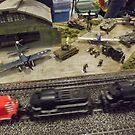 Scale Model Trains, Scale Model Airplanes, Greenberg's Train and Toy Show, Edison, New Jersey  by lenspiro