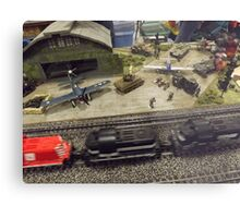 Scale Model Trains, Scale Model Airplanes, Greenberg's Train and Toy Show, Edison, New Jersey  Metal Print