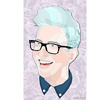 Geometric Tyler Oakley (Rose Edition) Photographic Print