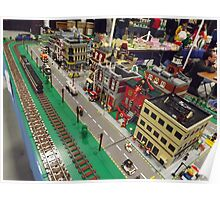 Lego Train, Lego Village, Greenberg's Train and Toy Show, Edison, New Jersey  Poster