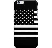 Black and White AMERICA iPhone Case/Skin