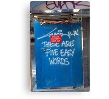 Easy Words Canvas Print