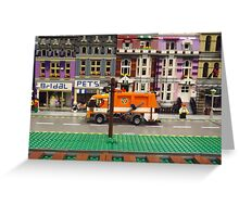Lego Village, Greenberg's Train and Toy Show, Edison, New Jersey  Greeting Card
