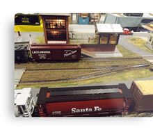 Scale Model Trains, Scale Model Buildings, Greenberg's Train and Toy Show, Edison, New Jersey  Metal Print