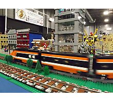 Lego Trains, Lego Buildings, Greenberg's Train and Toy Show, Edison, New Jersey  Photographic Print