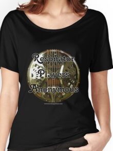 Resonator Guitar Players Anonymous Women's Relaxed Fit T-Shirt