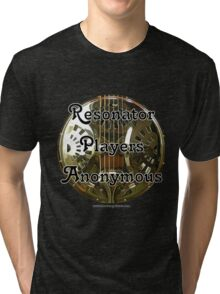 Resonator Guitar Players Anonymous Tri-blend T-Shirt