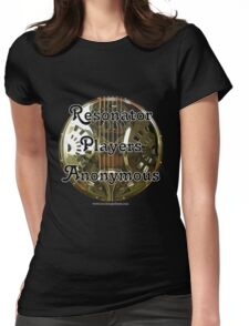 Resonator Guitar Players Anonymous Womens Fitted T-Shirt