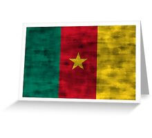 Distressed Cameroon Flag Greeting Card