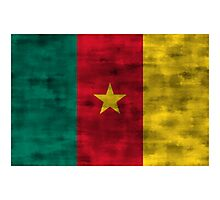 Distressed Cameroon Flag Photographic Print
