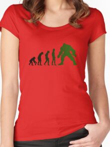 Green Evo Women's Fitted Scoop T-Shirt