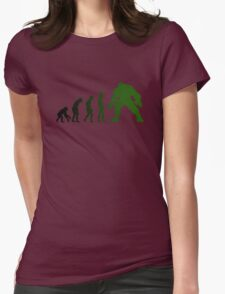 Green Evo Womens Fitted T-Shirt