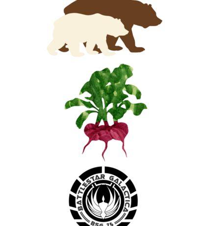 Bears Beets..... Sticker