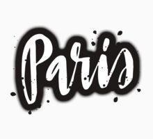Paris Brush Lettering by squiddyshop