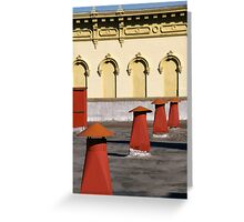 Red Air Vents 3 Greeting Card