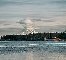 Mount Rainier Erupting by Bryan Peterson