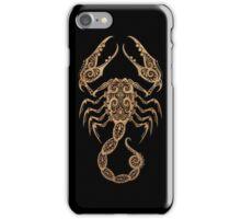Rustic Scorpio Zodiac Sign on Black iPhone Case/Skin