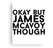 James McAvoy Canvas Print