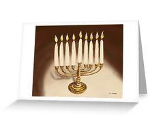 Hanukkuh Menorah Greeting Card