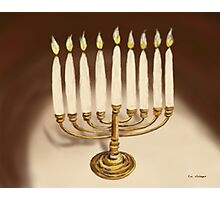 Hanukkuh Menorah Photographic Print