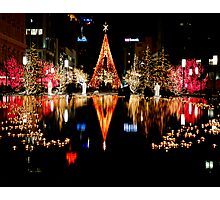 Twas Christmas at Temple Square Photographic Print