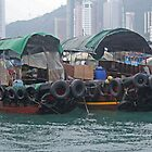 Sampans in Hong Kong Harbour by John  Lambert