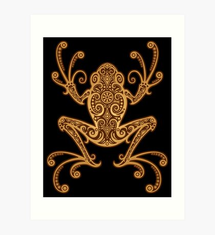 Intricate Golden Brown Tree Frog Art Print