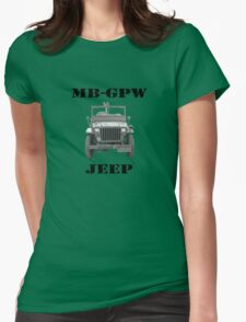 WW2 Jeep Womens Fitted T-Shirt