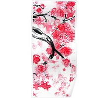 Cherry Blossoms Triptych I Poster