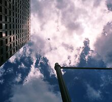 Big City Skyline........lamp post Sydney CBD by Juilee  Pryor