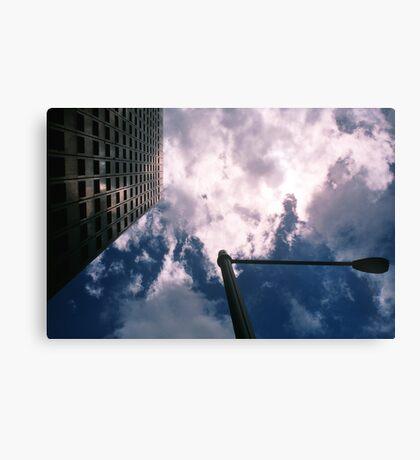 Big City Skyline........lamp post Sydney CBD Canvas Print