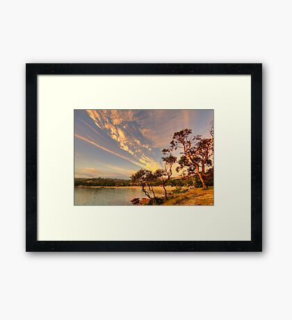 Face In The Sky - Balmoral Beach - The HDR Series Framed Print
