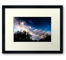 Brush the Clouds Framed Print
