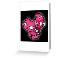 Kitten Parasite 2 Greeting Card