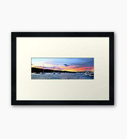 At Rest - Newport Beach - The HDR Series Framed Print