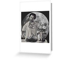 Saturday Moon Visits Greeting Card
