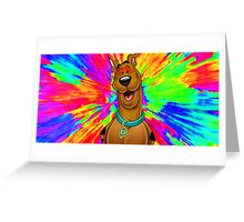 Scooby doo tripping out Greeting Card