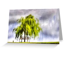 Pond Willow Greeting Card
