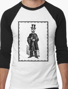 Skeleton Groom (Border) Men's Baseball ¾ T-Shirt