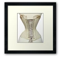 Antique Corset from the 19th Century Framed Print