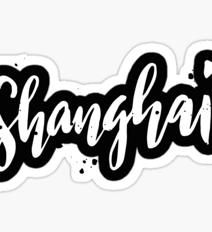 Shanghai Brush Lettering Sticker
