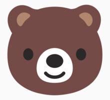 Bear Face Google Hangouts / Android Emoji Kids Clothes