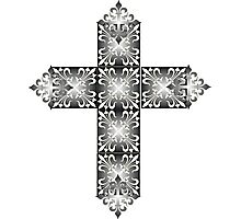Decorative cross icon for web-page, scrap-booking, backgrounds and more Photographic Print
