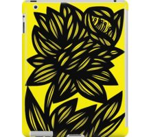 Penunuri Daffodil Flowers Yellow Black iPad Case/Skin