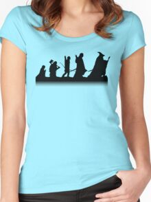 The March of Hobbits (no words) Women's Fitted Scoop T-Shirt