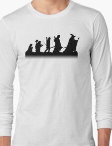The March of Hobbits (no words) Long Sleeve T-Shirt
