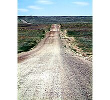 Ribbon of Road Through the Grasslands Photographic Print
