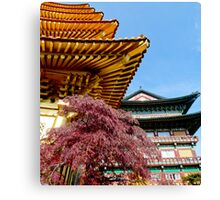 Korean Temples Canvas Print